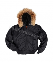 Куртка ALPHA INDUSTRIES MA-1 Hooded Black