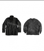 Куртка ALPHA INDUSTRIES M-65 Field Coat с подстёжкой Black