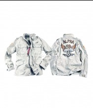 Куртка ALPHA INDUSTRIES Burning Skull White