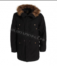 Куртка ALPHA INDUSTRIES Fishtail Hooded Parka Black