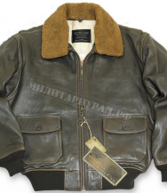 Куртка TOP GUN Military G-1 Bomber Leather Brown