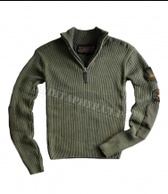 Свитер ALPHA INDUSTRIES Zip Knit Airborne 1/2 Olive