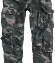 Брюки SURPLUS Airborne Slimmy Vintage Black Camo