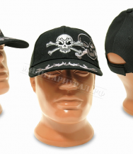Бейсболка ZAN Headgear Crossbones Cap Black