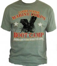 Футболка BLACK INK DESIGN  Marine Corps Boot Camp Olive