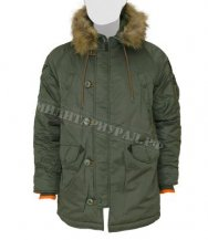 Куртка TOP GUN N-3B Slim Fit Parka S.Green Orange