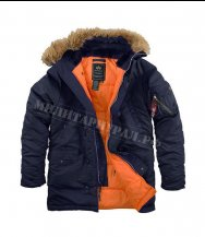 Куртка ALPHA INDUSTRIES N-3B Slim Fit Parka R.Blue/Orange